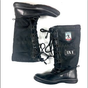Pajar Black Canada Sole Tall Winter Boots